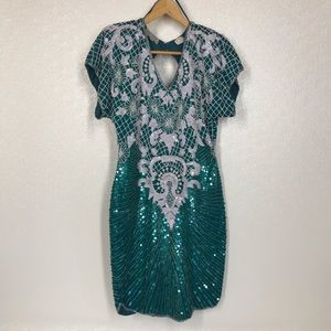 Sténay Silk Sequins and Beaded Vintage Dress